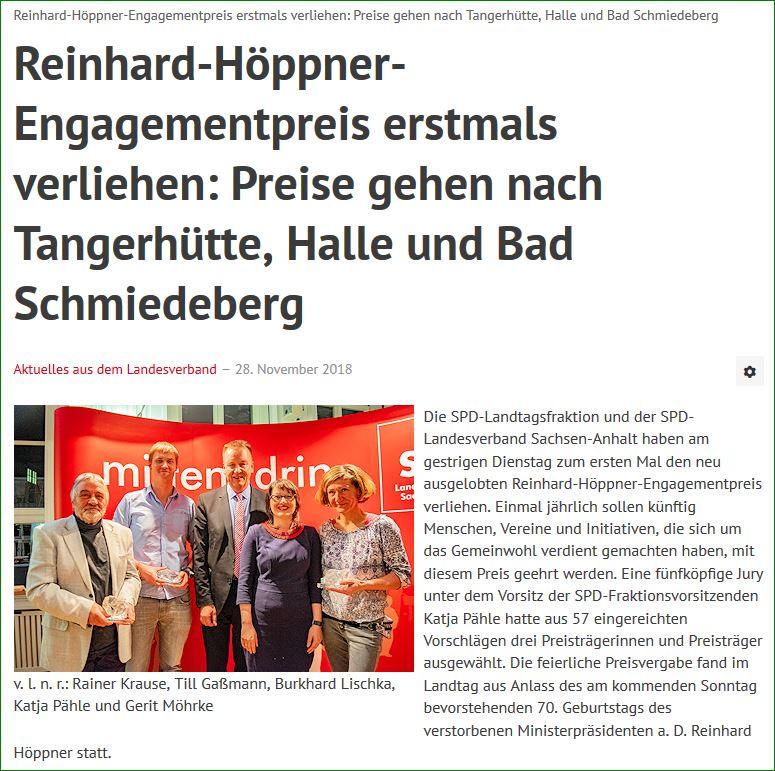 Homepage Höppnerpreis